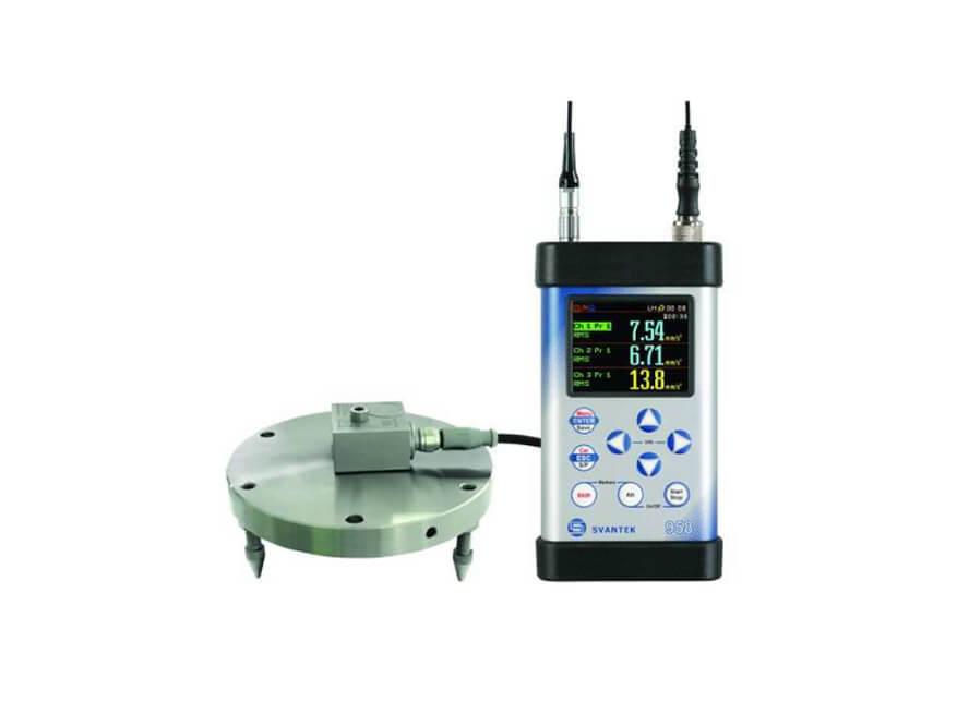 SVAN 958A instrument with the SV 207B Building vibration kit